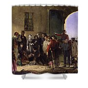 Wounded At Scutari A Portrait By Jerry Barrett Shower Curtain