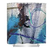 Wounded Concrete Shower Curtain
