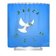 Wounded Dove Symbol Of Peace  Shower Curtain