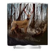Wounded Wanderer Shower Curtain