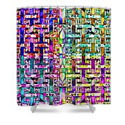 Woven Abstract Shower Curtain