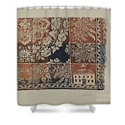 Woven Coverlet Shower Curtain