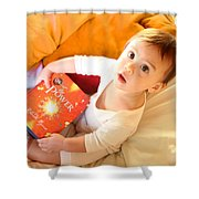 Wow What  A Book Shower Curtain