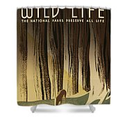 Wpa Wildlife 2 Shower Curtain