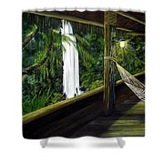 Wrapped In Paradise Shower Curtain