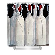 Wrapped Wine Bottles  Number One Shower Curtain