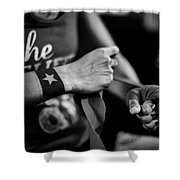Wrapping Hands Shower Curtain