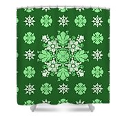 Wrapping Wallpaper Floral Seamless Tile For Website Vector, Repeating Foliage Outline Floral Western Shower Curtain