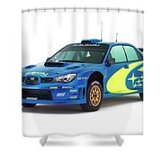 Wrc Racing Shower Curtain