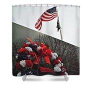 Wreath Of The Korean War Shower Curtain
