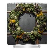 Williamsburg Wreath 21b Shower Curtain