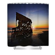 Wreck Of The Peter Iredale-b Shower Curtain