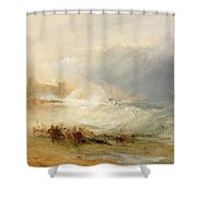 Wreckers - Coast Of Northumberland Shower Curtain