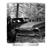 Wrecking Yard In Infrared 1 Shower Curtain