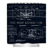 Wright Bros Flyer Aeroplane Blueprint  1903 Shower Curtain