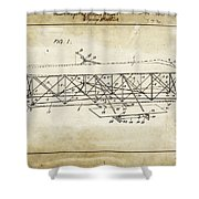 Wright Brothers Flying Machine Patent 1903 Shower Curtain