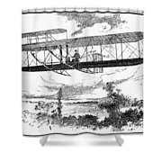 Wright Brothers Plane Shower Curtain