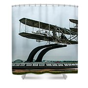 Wright Flyer Memorial Shower Curtain