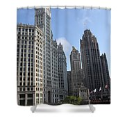 Wrigley And Tribune Tower Shower Curtain