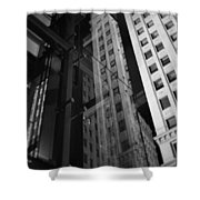 Wrigley Building Reflections Shower Curtain