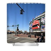 Wrigley Field - Chicago Cubs Shower Curtain