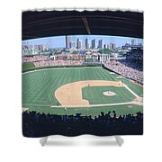 Wrigley Field, Chicago, Cubs V Shower Curtain