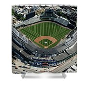 Wrigley Field In Chicago Aerial Photo Shower Curtain