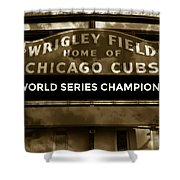 Wrigley Field Sign - Vintage Shower Curtain