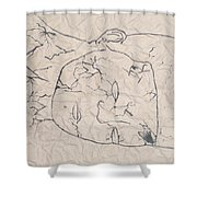 Wrinkled Masterpiece  Shower Curtain