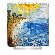 Writhing Sea Shower Curtain