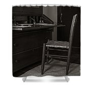 Writing Desk Shower Curtain