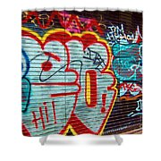 Writing On The Wall Shower Curtain
