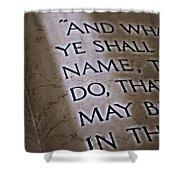 Written In Stone Shower Curtain