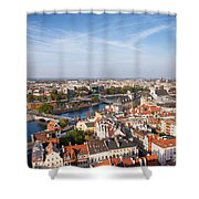 Wroclaw Cityscape In Poland Shower Curtain