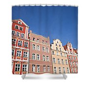 Wroclaw Old Town Houses Shower Curtain