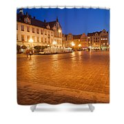 Wroclaw Old Town Market Square At Night Shower Curtain