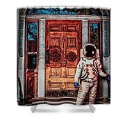 Wrong Address Shower Curtain by Bob Orsillo