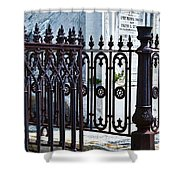 Wrought Iron Cemetery Fence Shower Curtain