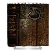 Wrought Iron Door Latch Shower Curtain