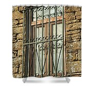 Wrought Iron - Glass - Stone Shower Curtain