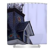 Wrought Iron Roof Top Shower Curtain