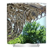 Wrought Iron Scroll Shower Curtain