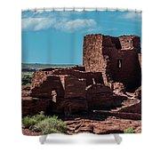 Wukoki Pueblo Ruins Wupatki National Monument Shower Curtain