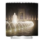 Ww 2 Memorial Fountain Shower Curtain