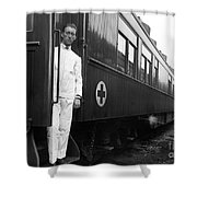 Ww I: Red Cross Railroad Shower Curtain