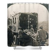 Ww I: Wounded/medics Shower Curtain