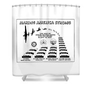 Ww2 Airplane Supply Cartoon  Shower Curtain