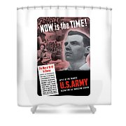 Ww2 Army Recruiting Poster Shower Curtain
