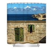 Ww2 Fortification Door Shower Curtain