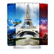 Ww2 France Shower Curtain